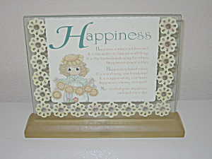 Precious Moments Standup Desk Plaque Happiness Enesco