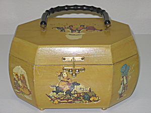 Holly Hobbie Decoupage Wood Box Purse Octagon Shape (Image1)