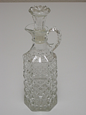 Anchor Hocking Wexford Glass Cruet With Stopper