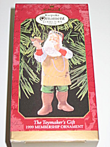 Hallmark 1999 Collector Club Ornament Toymakers Gift