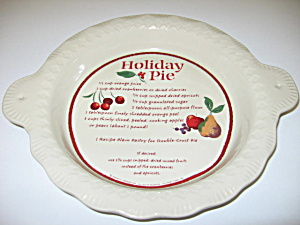 Hallmark Meredith Corp Holiday Pie Plate