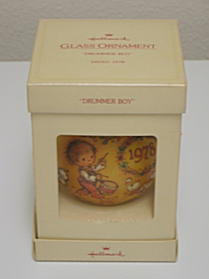 Hallmark Christmas Glass Ornament 1978 Drummer Boy (Image1)
