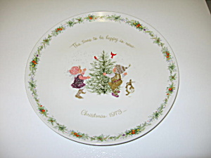 Holly Hobbie Commemorative Edition Plate Christmas 1973