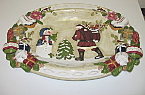 Home Trends Nature Christmas Large Serving Platter (Image1)
