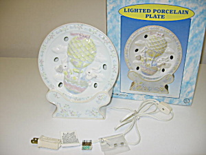 Cracker Barrel Lighted Easter Bunny Plate Night Light (Image1)