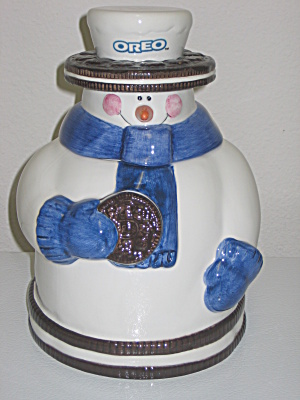 Houston Harvest Nabisco Oreo Snowman Cookie Jar (Image1)