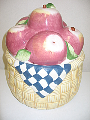 Susan Winget Apples In A Basket Cookie Jar (Image1)