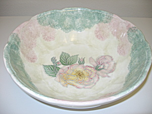 Himark Italy HUGE Fruit Pasta Serving Bowl Sponge Flora (Image1)