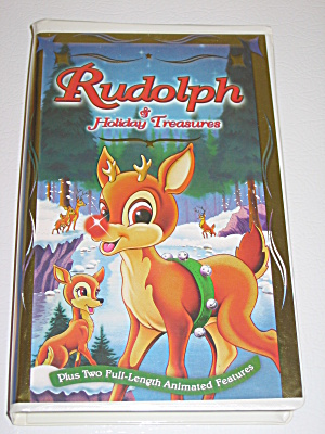 Rudolph & Holiday Treasures Christmas 1997 Vhs Tape