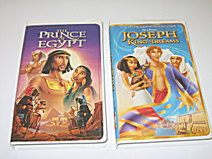 Dreamworks Prince Of Egypt & Joseph King Of Dreams Vhs