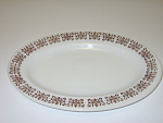 Anchor Hocking Fire King Filigree Oval Plate Platter