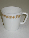 Click here to enlarge image and see more about item CDCCBG02: Corning Corelle Butterfly Gold PYREX Mug