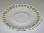 Click here to enlarge image and see more about item CDCCBG03: Corning Corelle Butterfly Gold Saucer