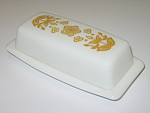 Corning Corelle Butterfly Gold PYREX Coverd Butter Dish
