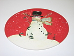 Click here to enlarge image and see more about item HSCCISW03: Certified International Susan Winget Snowman Red Trivet