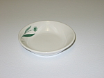 Click here to enlarge image and see more about item CDHLGF04: Homer Laughlin Green Field Best China Sauce Bowl