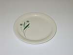 Click here to enlarge image and see more about item CDHLGF08: Homer Laughlin Green Field Best China Bread Plate