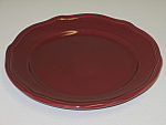 Click here to enlarge image and see more about item CDHTB01: Home Trends Burgundy Reddish Brown Salad Plate