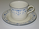 Click here to enlarge image and see more about item CDLCB01: Lenox Chinastone Country Blue Cup & Saucer Set