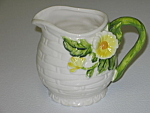 Lefton Rustic Daisy Creamer Cream Pitcher