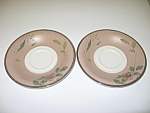 Mikasa Belle Cuisine MQ103 Petal Rose Set of 2 Saucers