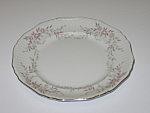 Click here to enlarge image and see more about item CDMBP01: Mikasa Fine China Blossoms Pink 8340 Dessert Plate