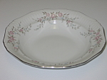 Click here to enlarge image and see more about item CDMBP04: Mikasa Fine China Blossoms Pink 8340 Rimmed Soup Bowl