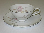 Mikasa China Narumi Japan Dawn Rose Cup & Saucer Set