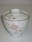 Mikasa China Narumi Japan Dawn Rose Sugar Bowl & Lid