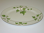 Click here to enlarge image and see more about item CDPGI03: Pencrest Fine China Green Ivy Oval Serving Platter