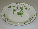 Click here to enlarge image and see more about item CDPGI04: Pencrest Fine China Green Ivy Oval Serving Bowl
