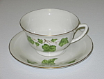 Click here to enlarge image and see more about item CDPGI05: Pencrest Fine China Green Ivy Cup & Saucer Set