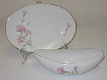 Royal Court Japan Carnation Gravy Boat & Underplate
