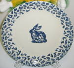 Click here to enlarge image and see more about item CDTA01: Tienshan Folkcraft Animals Bunny Rabbit Dinner Plate