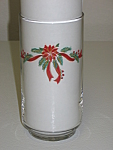 Tienshan Fairfield Poinsettia & Ribbons Glass Tumbler