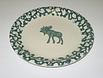 Click here to enlarge image and see more about item CDTMC02: Tienshan Folkcraft Moose Country Dessert Plate