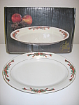 Tienshan Fairfield Poinsettia & Ribbons Serving Platter