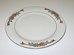 Click here to enlarge image and see more about item CDTFPR03: Tienshan Fairfield Poinsettia & Ribbons Salad Plate
