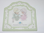 Click here to enlarge image and see more about item FPM02: Enesco Precious Moments Friendship Hits The Spot Plaque