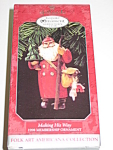Click here to enlarge image and see more about item HSCH03: Hallmark Folk Art Americana Ornament Making His Way