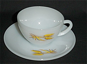 Fire King Wheat Cup and Saucer Set (Image1)