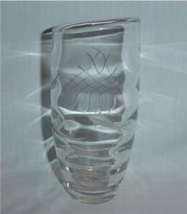 Etched Crystal Vase