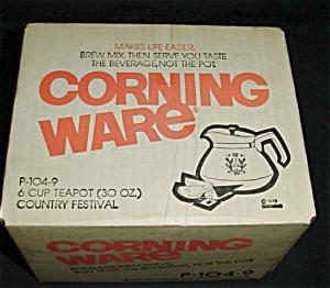 Corning Ware Teapot Tea Pot (Image1)