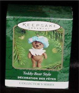 Teddy Bear Style Mini Hallmark Ornament (Image1)