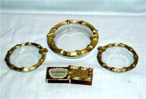 Vintage La Petite Ashtray & Match Case Set (Image1)
