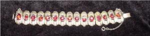 Coro Goldtone Rhinestone Bracelet Signed (Image1)
