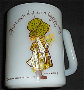 Federal Glass Holly Hobbie Green Mug