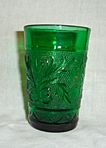 Anchor Hocking Green Sandwich Juice Glass (Image1)