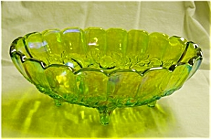 Indiana Glass Green Carnival Fruit Bowl