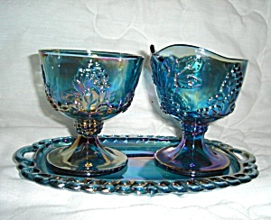 Indiana Carnival Glass Cream and Sugar Set (Image1)